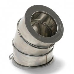 Coude à 45° fumisterie cheminée double paroi isolé