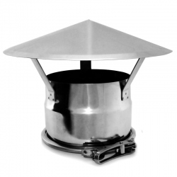 Chapeau cheminée para-pluie cheminée double paroi REN
