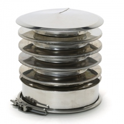 Chapeau cheminée anti-refoulement double paroi REN