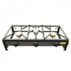 Cuisinière réchaud à gaz portable 3 feux 120x40