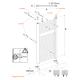 Sèche-serviettes à eau chaude Alu KROM blanc