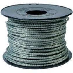 Câble d'acier Inox-Galvanisé plastifié Ø 1,5mm - vendu au mètre