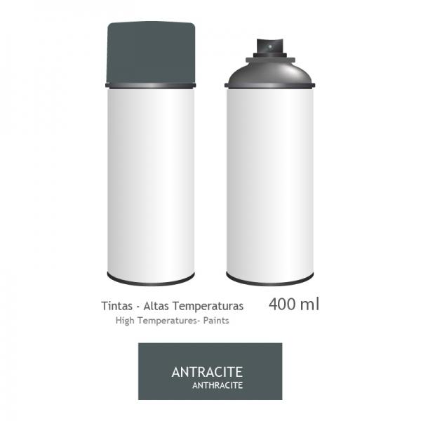Peinture haute températue en bombe pour les poêles 400ml - ANTHRACITE