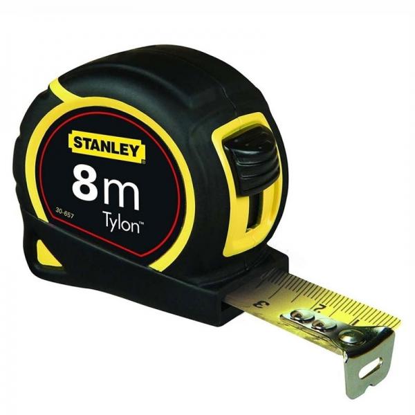 Mètre Stanley 30-657 bi-matière Tylon 8 mètre