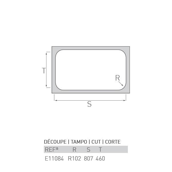 Évier à encastrer LAC 1 bac + égouttoir 80 X 50