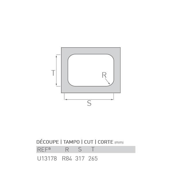 Évier inox sous plan CITRINE 1 bac 58 X 45