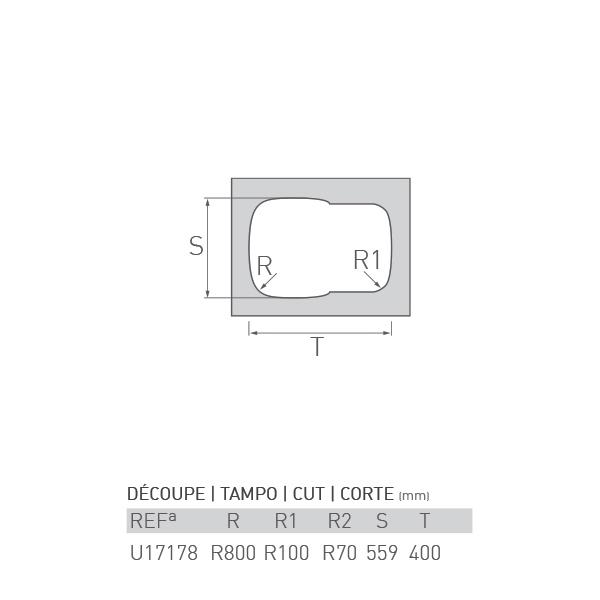 Évier inox sous plan OCÉAN 1 ½ bac 60 X 44