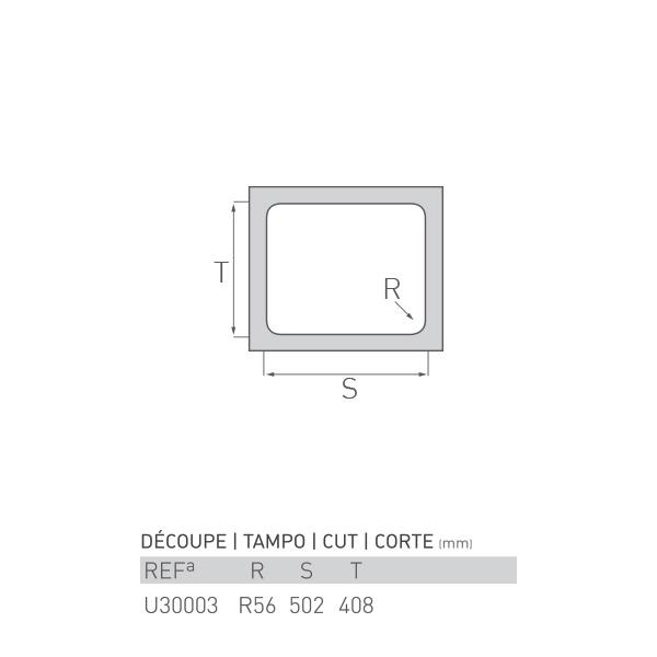 Évier inox sous plan TOPAZE 1 bac 50 X 40 X 16