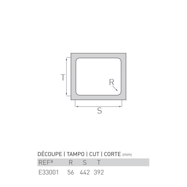 Évier inox sous plan AGATE 1 bac 45 X 40 X 20