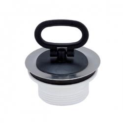 Bonde bouchon plastique pour évier de cuisine Ø 70 mm
