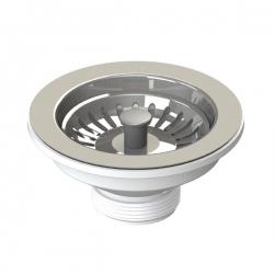 Bonde à panier en inox pour évier de cuisine Ø 115 mm