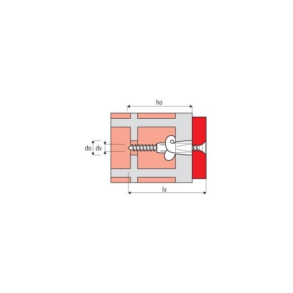 Chevilles Nylon ELEMATIC TPFC avec collerette