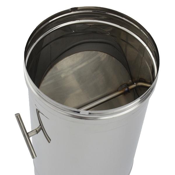 Conduit de cheminée - Tuyau 1M à régulateur de tirage simple paroi
