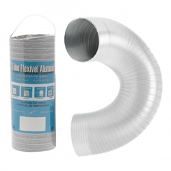 Aération - VMC - Gaine flexible / extensible Alu blanc 1,5M
