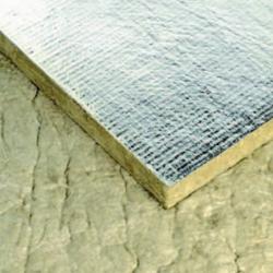 Panneau laine de roche pour cheminée revêtement Aluminium 30 mm