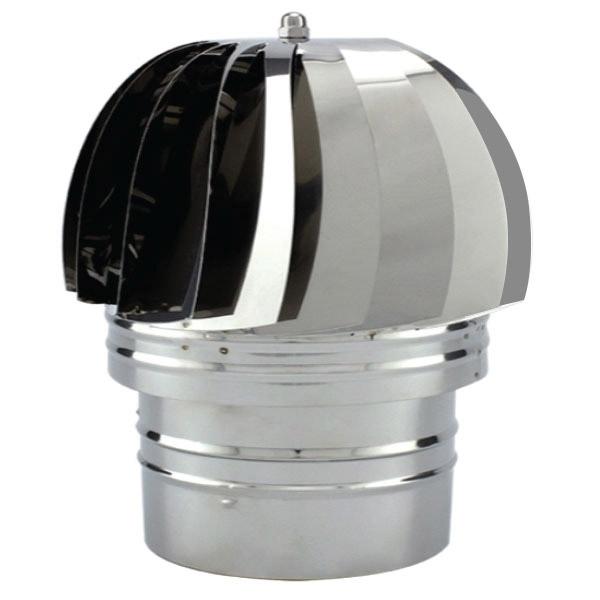 Chapeau extracteur fumée conduit simple paroi