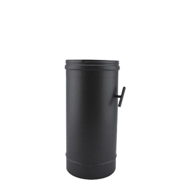 Tuyau 33 CM régulateur de tirage - Conduit Noir ou Anthracite PRO