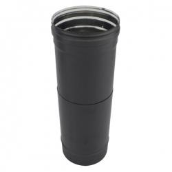 Tuyau ajustable 38 à 56 CM - Conduit Noir ou Anthracite PRO