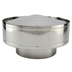 Chapeau anti-pluie - Conduit cheminée double paroi isolé PRO