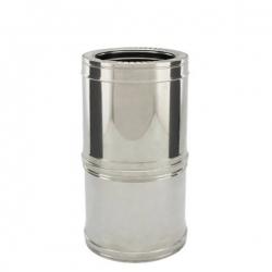 Tuyau télescopique 38/56 CM - Conduit cheminée double paroi isolé PRO