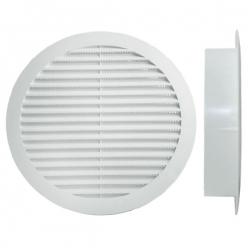 Grille polypropylène d'aération et ventilation Ø80