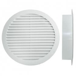 Grille polypropylène d'aération et ventilation Ø100
