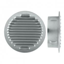 Grille d'aération à encastrer aluminium Ø80