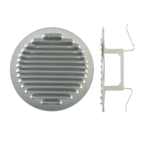 Grille d'aération à clipser aluminium Ø80/125