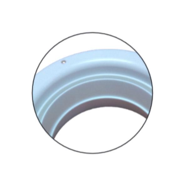 Bouche d'extraction polypropylène à encastrer Ø100