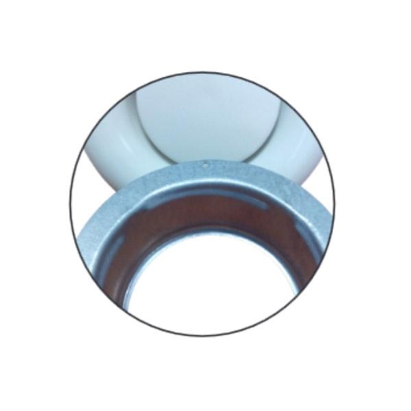 Bouche d'extraction Inox à encastrer Ø125