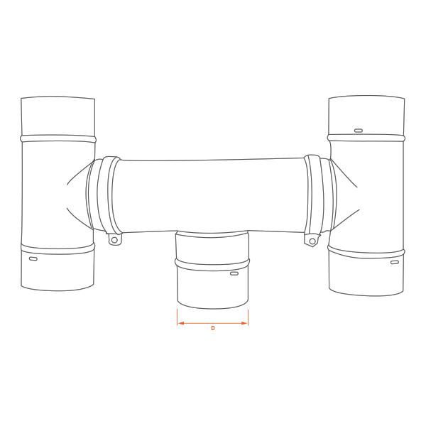 Conduit de cheminée -Chapeau anti-intempéries conduit simple paroi PRO