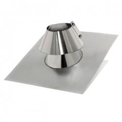 Solin 90º inox d'étanchéité avec collerette - Abergement cheminée