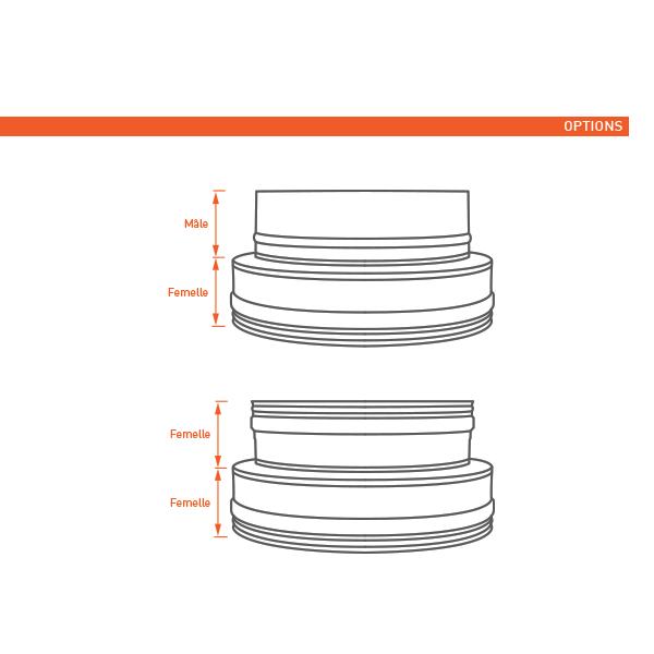 Conduit de cheminée -Adaptateur conduit double à simple paroi PRO