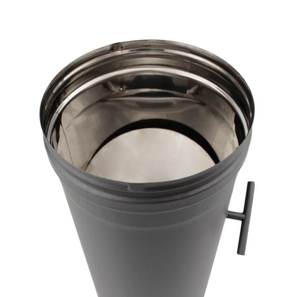 Tuyau 50 CM à régulateur de tirage - Conduit Noir ou Anthracite PRO