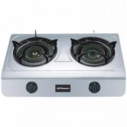 réchaud à gaz Orbegozo FO2700 Acier inoxydable (2 Cuisinière)