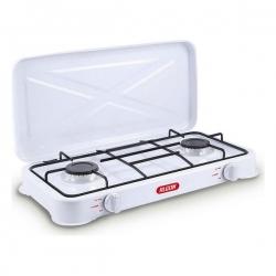 Cuisinière à Gaz Algon Blanc (2 Feux à gaz) (58 X 28 x 8,5 cm)