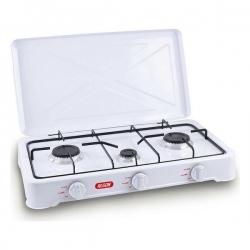 Cuisinière à Gaz Algon Blanc (3 Feux à gaz) (60 X 33 x 10 cm)