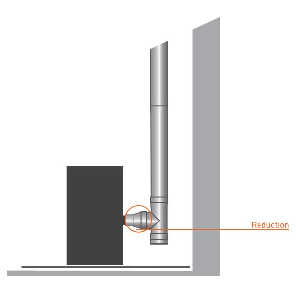 Réducteur tubage cheminée PRO
