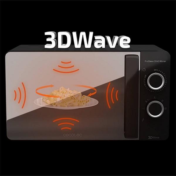 Micro-ondes Cecotec ProClean 3040 Mirror 20 L 700W Noir