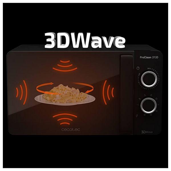 Micro-ondes avec Gril Cecotec ProClean 3130 20 L 700W Noir