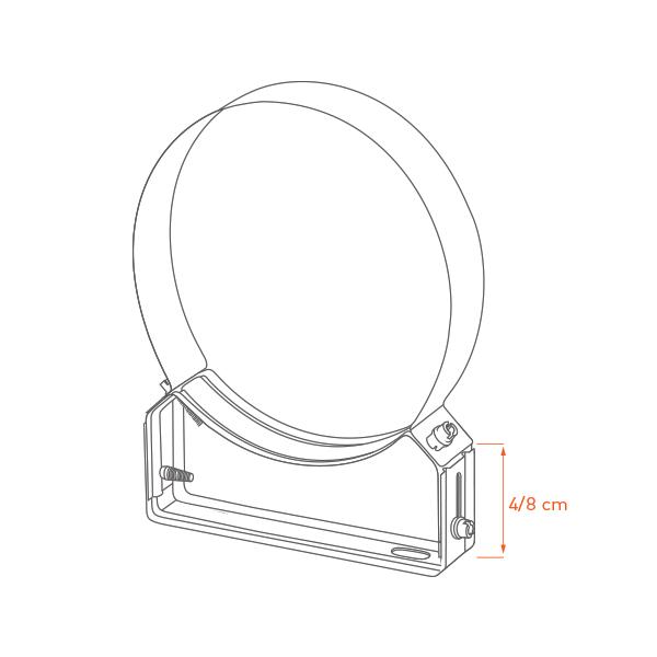 Collier support réglable 4/8 cm