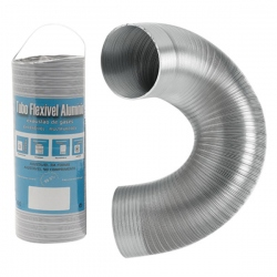Aération - VMC - Gaine flexible / extensible Aluminium 5M