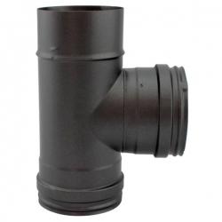 Té à 90° - Conduit Noir ou Anthracite PRO