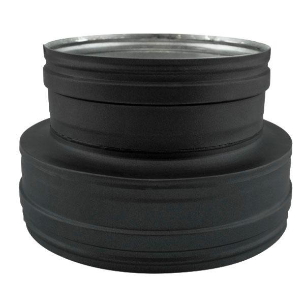Conduit de cheminée - Adaptateur conduit double à simple paroi PRO Noir/Anthracite