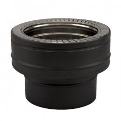 Conduit de cheminée - Adaptateur conduit simple à double paroi PRO Noir/Anthracite