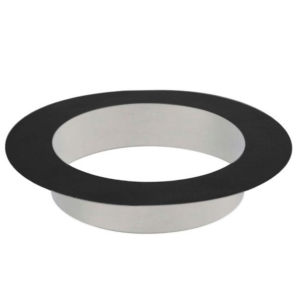 Rosace à collerette 5 CM - Conduit Noir ou Anthracite