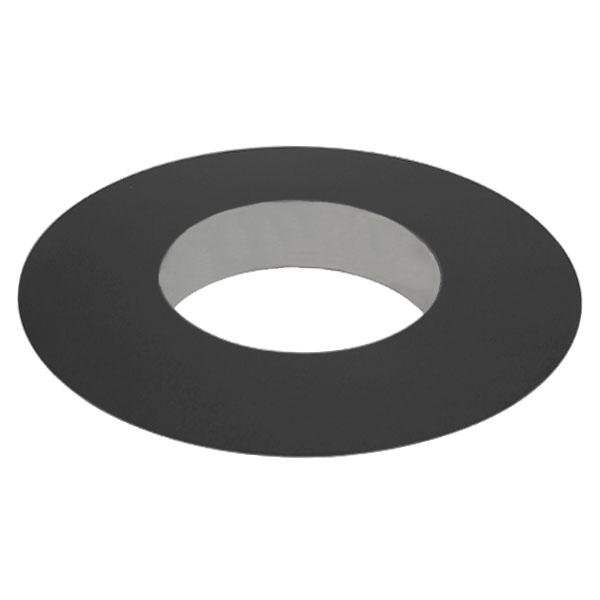 Rosace à collerette 10 CM - Conduit Noir ou Anthracite