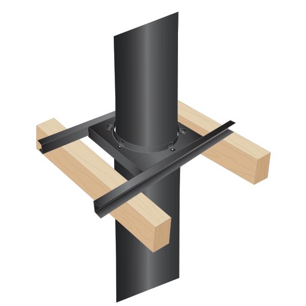 Support charge plancher bois - Conduit Noir ou Anthracite