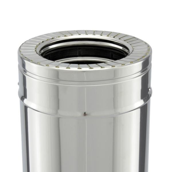 Tuyau 1M régulateur tirage - Conduit cheminée double paroi