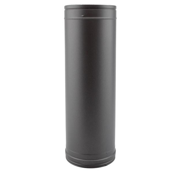Tuyau 1M - Conduit fumée double paroi Noir / Anthracite PRO
